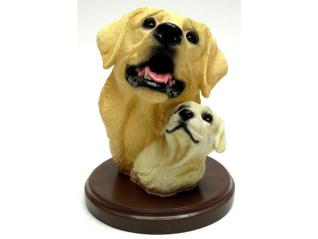 Living Stone Yellow Lab with Pup Bust on Base-0193-73120