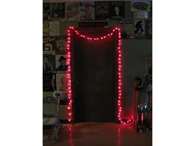 25ft Red Spun Tube Light String 1 Lights-0197-92709001