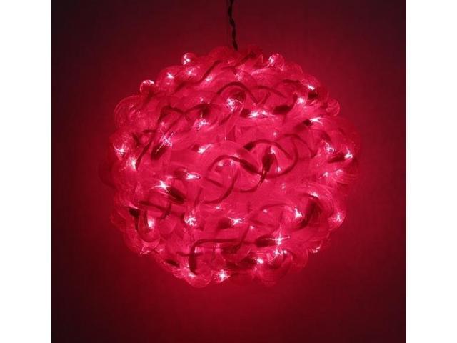 10'' Red Spun Tube Light Ball 1 Lights-0197-92709005