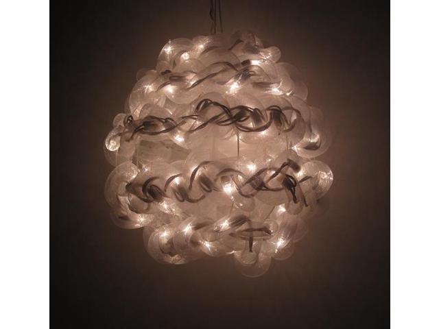 10'' White Spun Tube Light Ball 1 Lights-0197-92709007