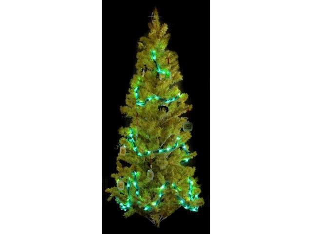 25ft Green Spun Tube Light String 1 Lights-0197-92709003