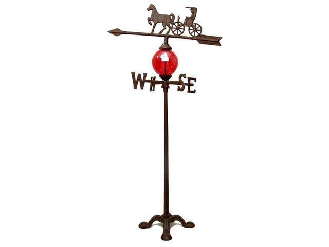 Cast Iron Horse & Carriage Weathervane-0184S-0036