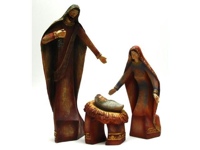 Wood-look Holy Family Set-0197-397368