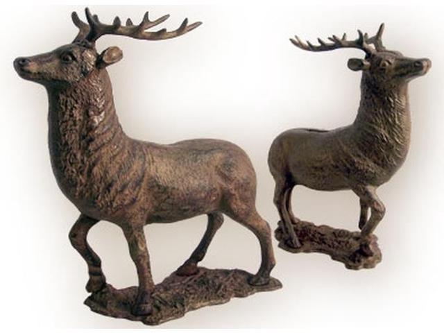 HUGE Elk Deer Bank Cast Iron-0170S-04632
