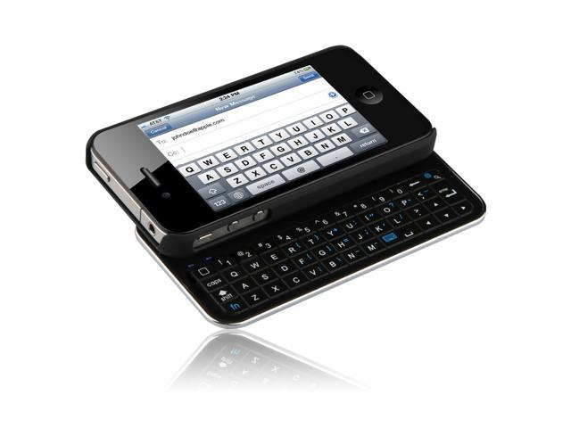 Naztech N5100 Sliding Bluetooth Qwerty Keyboard for iPhone 4 and 4S - Black