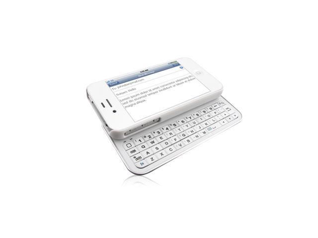 Naztech N5100 Sliding Bluetooth Qwerty Keyboard for iPhone 4 and 4S - White
