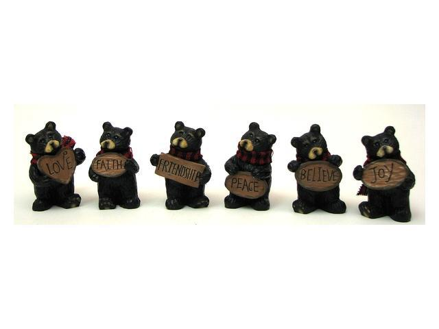 Mini Bear withSign Set of 6-049-26163