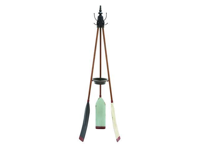 Rowing Oar Coat Rack With Multiple Hooks - 56042