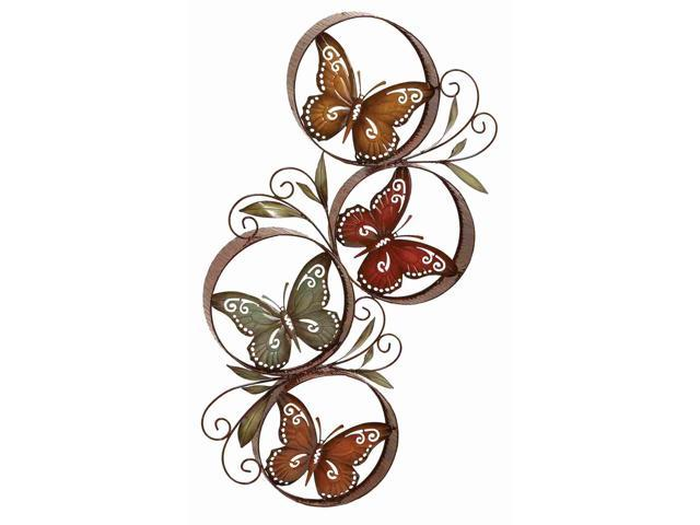 Benzara 13945 Metal Butterfly Decor Fills The Color Of Nature In Rooms