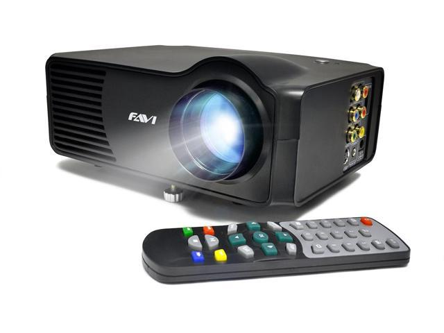 FAVI LED-3 LED LCD (SVGA) Mini Video Projector - US Version (Includes Warranty) - DIY Series (RioHD-LED-3)