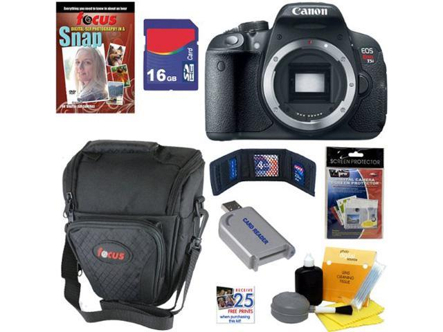 Canon T5i: EOS Rebel T5i 18.0 MP CMOS Digital Camera with Full HD Movie (Body) + 7pc Bundle 16GB Accessory Kit