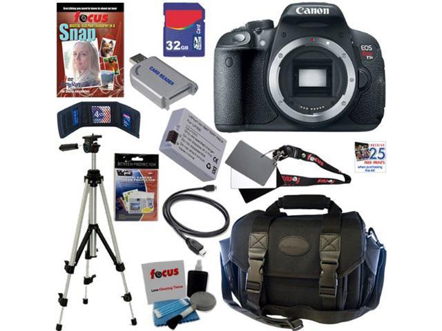 Canon T5i: EOS Rebel T5i 18.0 MP CMOS Digital Camera with Full HD Movie (Body) + 11pc Bundle 32GB Deluxe Accessory Kit
