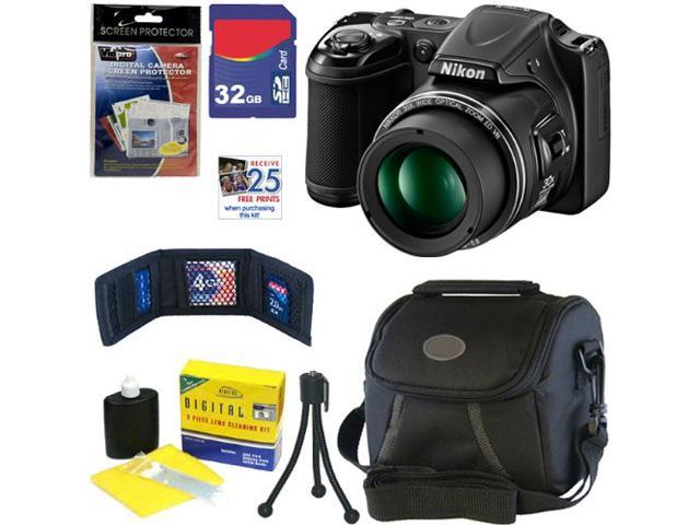 Nikon L820 COOLPIX 16 MP CMOS Digital Camera with 30x Zoom Lens and Full HD 1080p Video (Black)