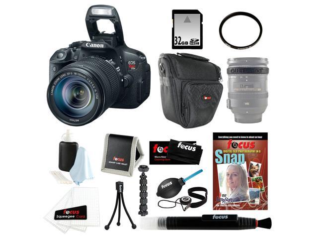 Canon T5i: EOS Rebel T5i with EF-S 18 135mm IS STM Bundle + 32GB SD DSLR Camera Kit