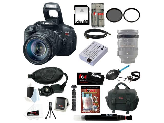 Canon T5i: EOS Rebel T5i with EF-S 18 135mm IS STM Bundle + Replacement Battery for LP-E8 + 64GB SD Best DSLR Camera Kit