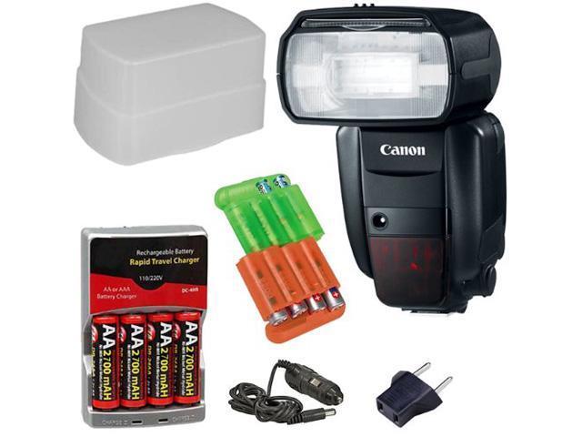 CANON Speedlite 600EX-RT Flash + 3pc best Flash Kit for Canon EOS 1D, 1DS, 1D X, 5D Mark II III, 60D, 7D, 70D Rebel T3, T3i, ...