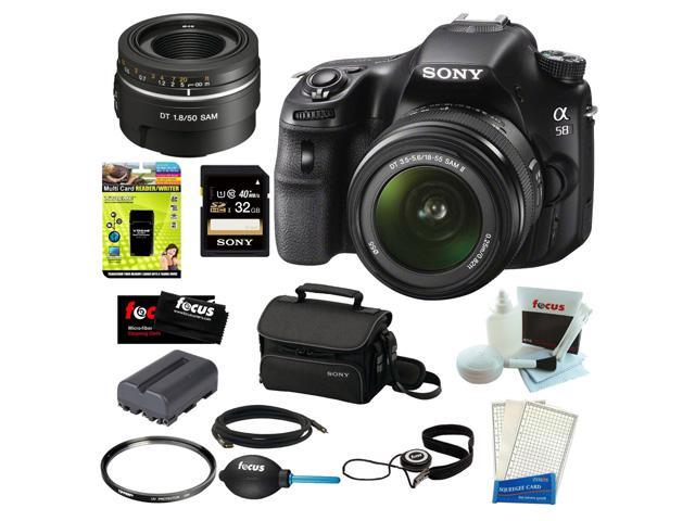 Sony a58 Sony SLT-A58K SLT-A58 with 18-55mm Zoom Lens, 20.1MP DSLR Camera w/ 2.7