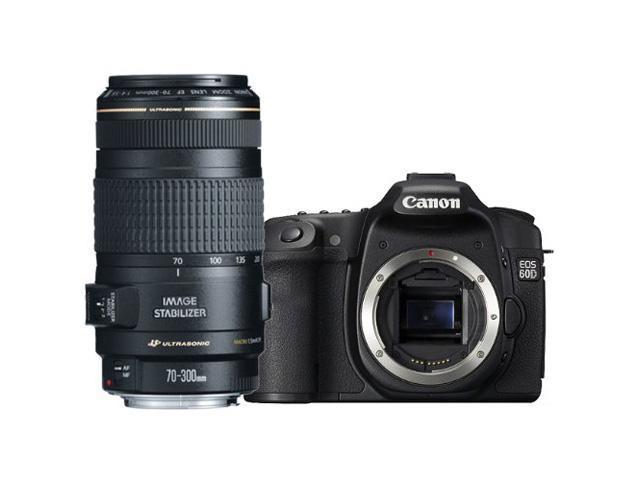 "Canon 60d EOS 60D 18MP CMOS Digital SLR Camera w/ 3"" LCD Body + Canon 70-300/4.0-5.6 EF IS Image Stabilized USM Autofocus ..."