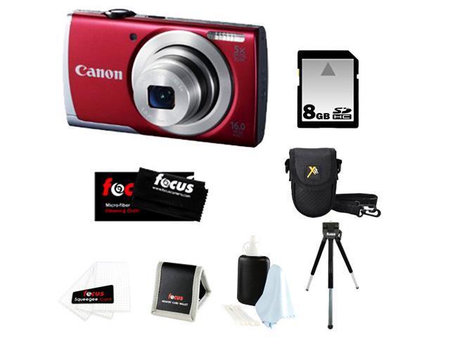 Canon PowerShot A2500 16.0 MP Digital Camera + 8GB SD HC Memory Card + Point & Shoot Camera Case + Accessory Kit