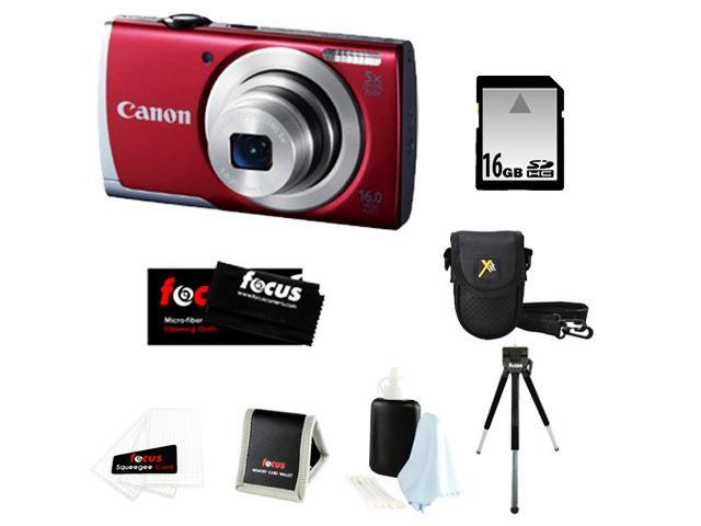 CANON A2500: Canon PowerShot A2500 IS Digital Camera + 16GB SD HC Memory Card + Point & Shoot Camera Case + Accessory Kit