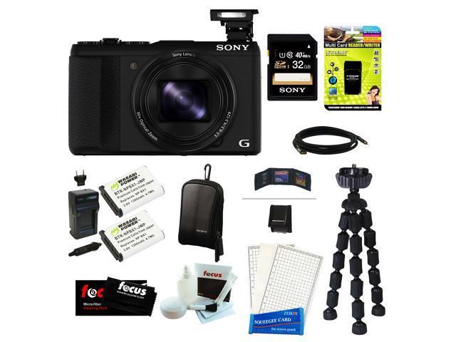 Sony DSC-HX50V/B DSC-HX50, HX50, DSCHX50 Cyber-shot 20.4MP High Zoom Digital Camera Bundle with Sony 32GB SD Memory Card ...
