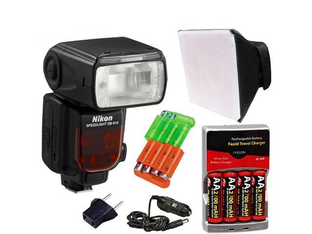 Nikon SB-910 AF Speedlight Flash for Nikon Digital SLR Cameras + Accessory Kit