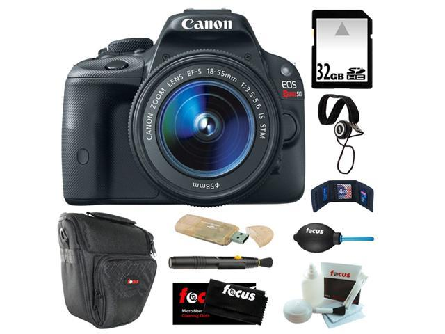 Canon EOS Rebel SL1 18MP Digital SLR with 18-55mm EF-S IS STM Lens and 3-inch Touch Screen + 32GB SDHC + Card Reader + Zoom ...