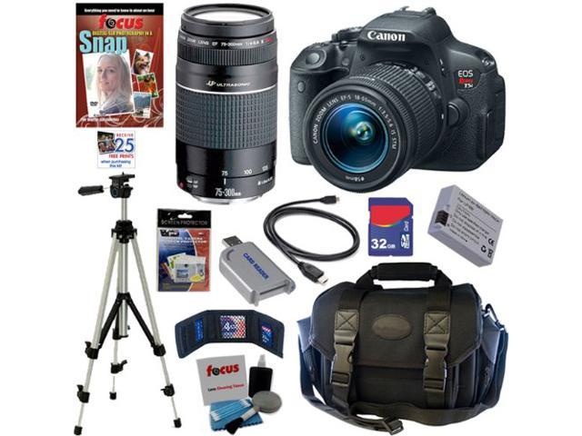 Canon T5i: EOS Rebel T5i 18.0 MP CMOS Digital Camera with EF-S 18-55mm f/3.5-5.6 IS STM Zoom Lens + EF 75-300mm f/4-5.6 III