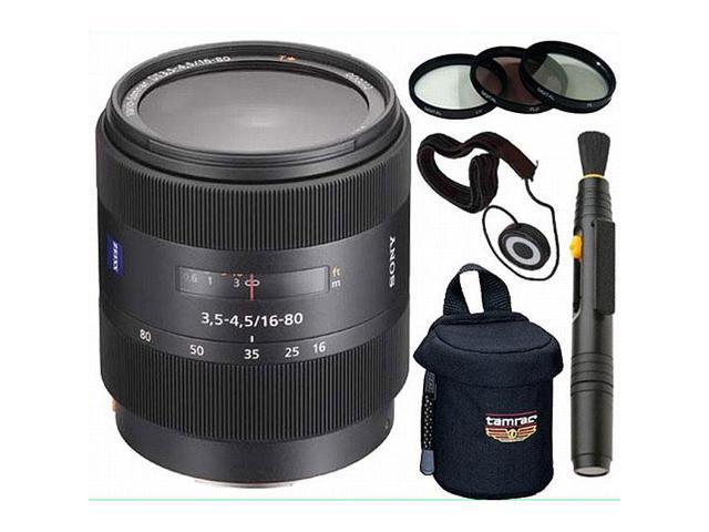 Sony DSLR SAL-1680Z 16-80MM F/3.5-4.5 Zoom Lens + Accessory Kit