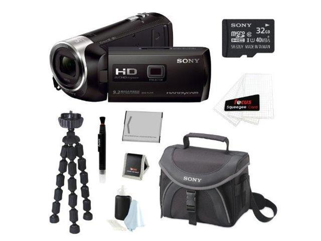 Sony HDR-PJ275/B 8GB HD Camcorder w/ built-in Projector + 32GB DX Accessory Kit