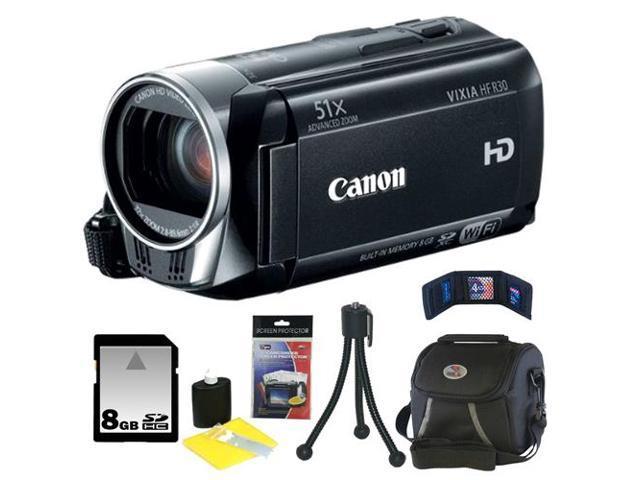 Canon R30 Vixia HF-R30 HD 8GB Internal Flash Memory Camcorder + 8GB Accessory Kit