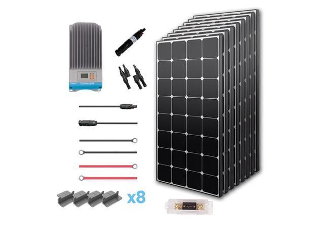 renogy 800 watt 12 volt eclipse solar premium kit newegg
