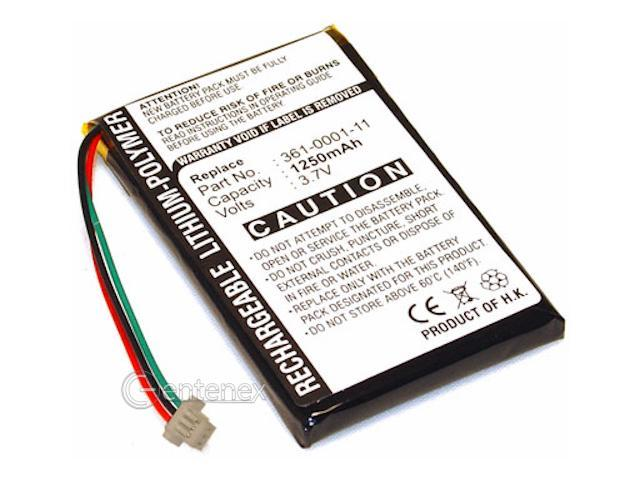 Battery for Garmin Nuvi GPS 255w 205 265wt 200 255 205w 250 260w +Microfiber