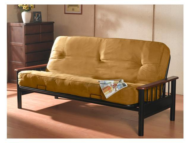 Complete Futon with Metal Frame and Pocket Coil Mattress