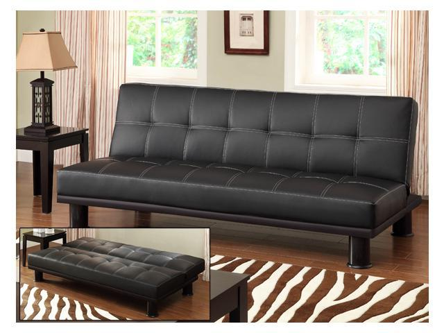 Klik Klak Sofa Sleeper with Tufting and Baseball Stitching