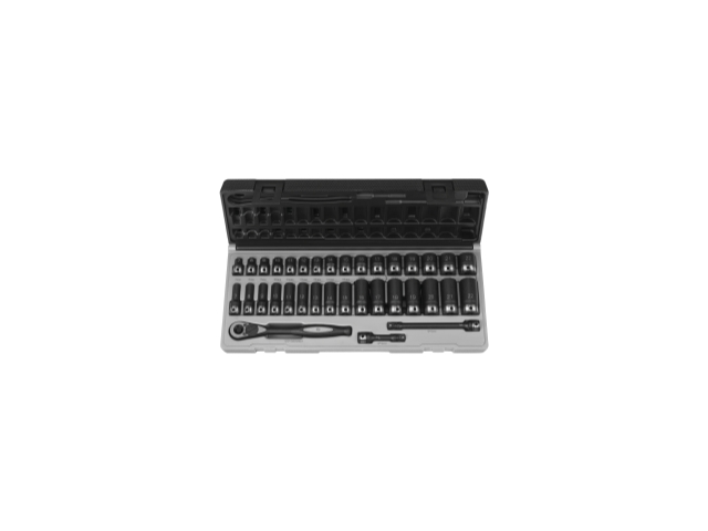 """35 Piece 3/8"""" Drive Standard and Deep Metric 6 Point Duo-Socket Set"""