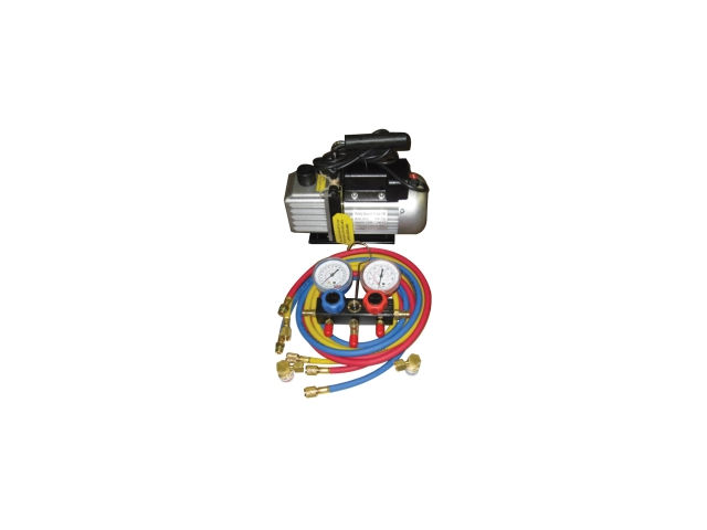 Vacuum Pump and Manifold Gauge Set