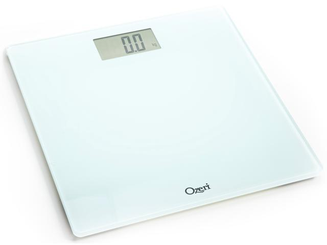 Ozeri Precision Digital Bath Scale (400 lbs Edition) with Widescreen LCD and Step-on Activation, in White