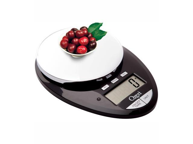 Ozeri ZK12S-B Pro II Digital Kitchen Scale, 1g to 12 lbs Capacity, with Countdown Kitchen Timer (Black)