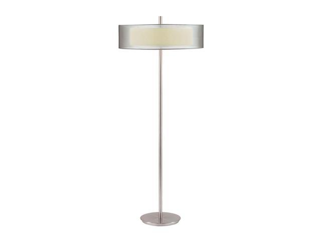 Sonneman 3-Light Puri Floor Lamp in Satin Nickel - 6016-13