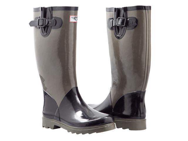 Ladies' Tall, Flat Rain Boots (Rubber Wellies)-Newegg.com