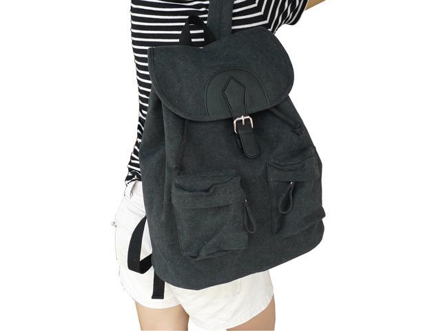 Otium 20228NBLK Leisure Canvas Bagpack Backpack - Garment Washed Black