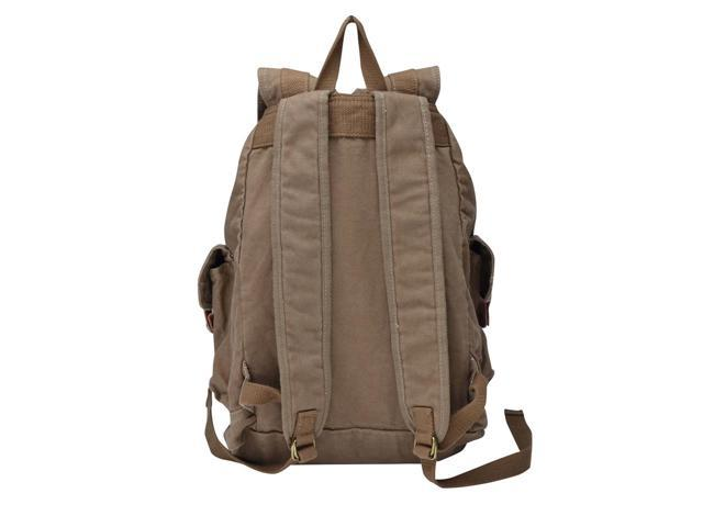 Gootium 21101CF Specially High Density Thick Canvas Backpack Rucksack Coffee