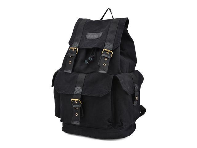 Gootium 21101BLK Specially High Density Thick Canvas Backpack Rucksack,Black New-listing