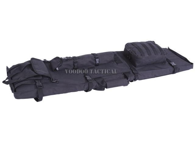 voodoo tactical shooting mat and rifle drag bag black