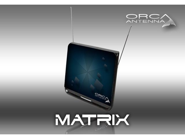 Orca Flat Digital HD TV Omni Directional Indoor Antenna Matrix