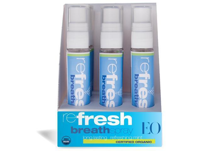 Eo Products: Organic Breath Spray Pop Display, 12 ct