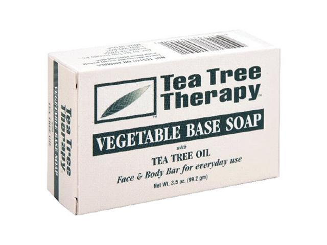 Soap-Vegetable Base With Tea Tree - Tea Tree Therapy - 3.5 oz - Bar Soap