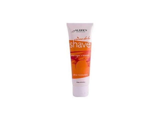 Aubrey Organics, Creme de la Shave, Orange Cream, 4 fl oz (118 ml)