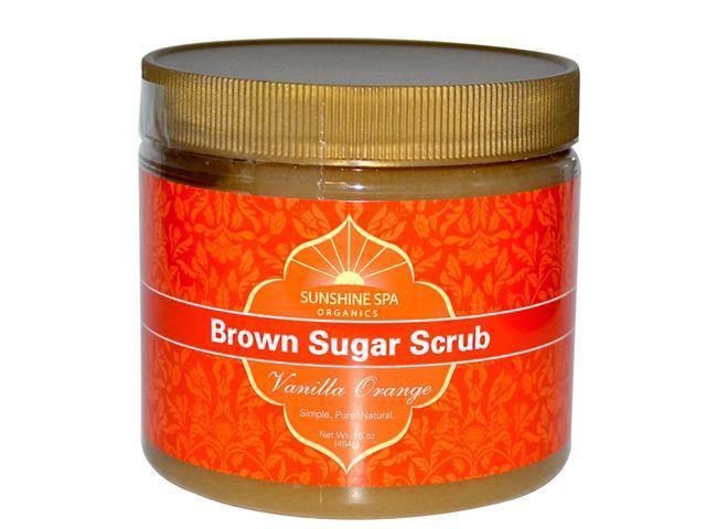 Herb Sugar Scrub-Vanilla Orange - Sunshine Spa - 16 oz -